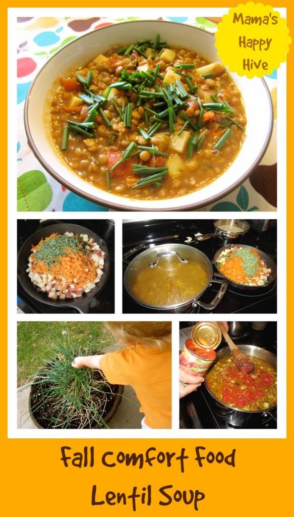 Fall Comfort Food Lentil Soup - httpwww.mamashappyhive.com