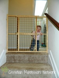 Baby proofing is a great first step to setting up your Montessori infant home. ChristianMontessoriNetwork.com