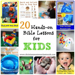 20 Hands On Bible Lessons for Kids