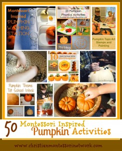 50 Montessori Inspired Pumpkin Activities
