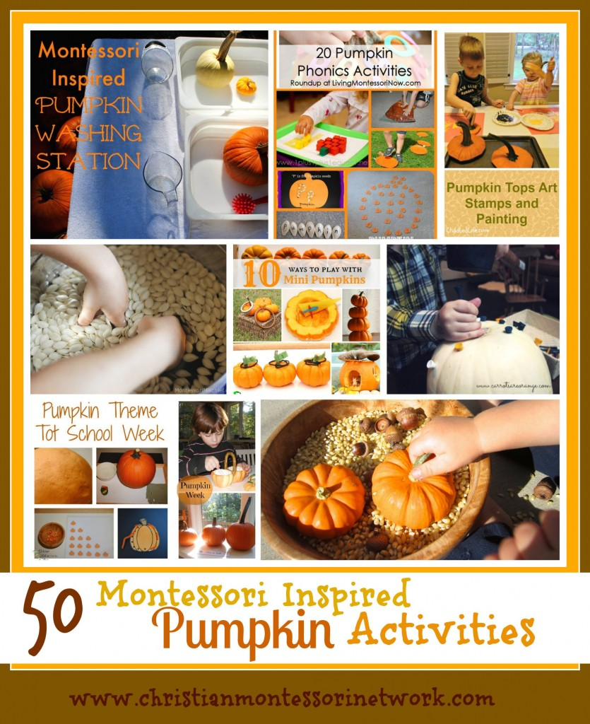 50 Montessori Inspired Pumpkin Activities - ChristianMontessoriNetwork.com