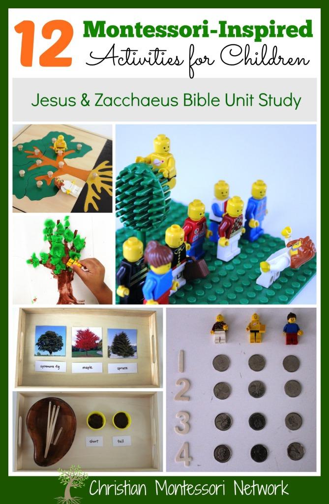 Zacchaeus Montessori Inspired Bible Lesson - ChristianMontessoriNetwork.com