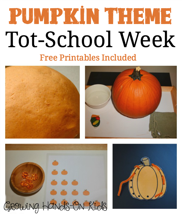 Pumpkin themed tot-school week.