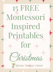 15 Free Montessori Inspired Christmas Printables