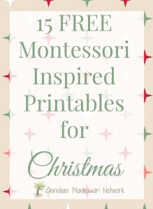 15 Free Montessori Inspired Christmas Printables