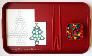 Montessori inspired Christmas printable