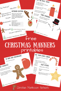 Christmas manners free printables