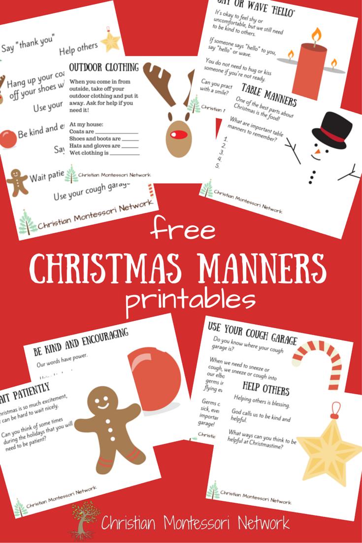 Free Christmas Manners Printables