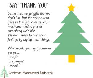 Christmas Manners Printables