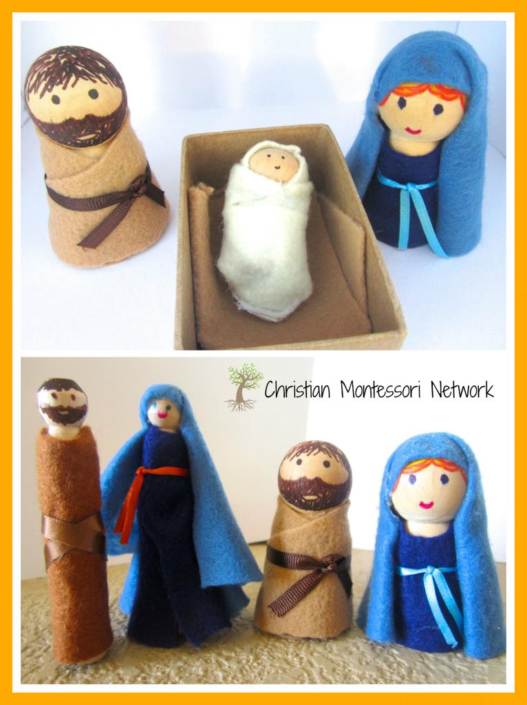 Nativity Peg People
