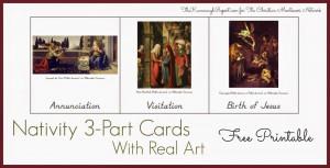 Montessori Nativity 3-part card printables