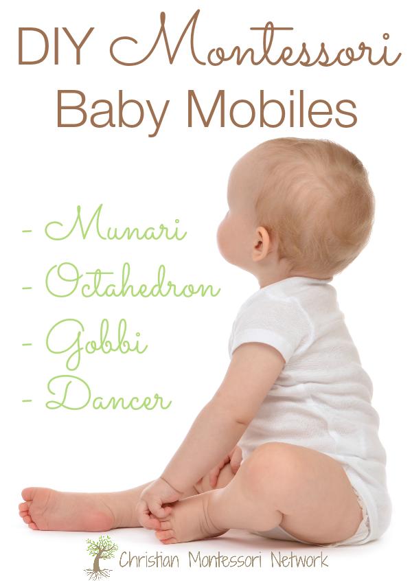 DIY Montessori baby mobiles ideas for your home. ChristianMontessoriNetwork.com