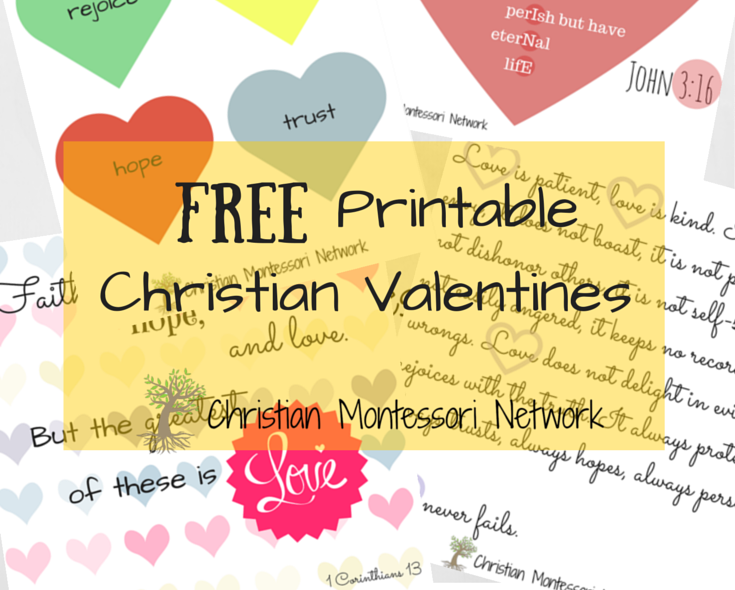 Free Christian Valentines printables for kids.