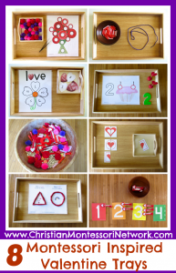 8 Montessori Inspired Valentine Trays