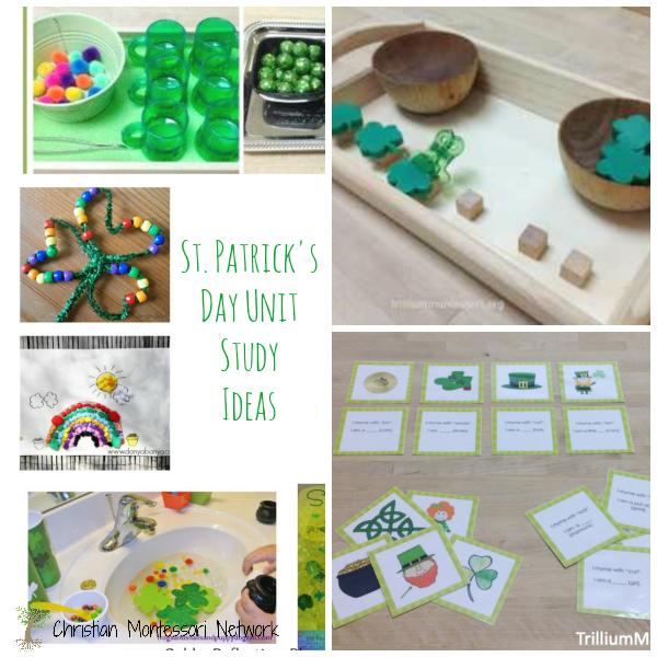 St. Patrick's Day Montessori unit study ideas.