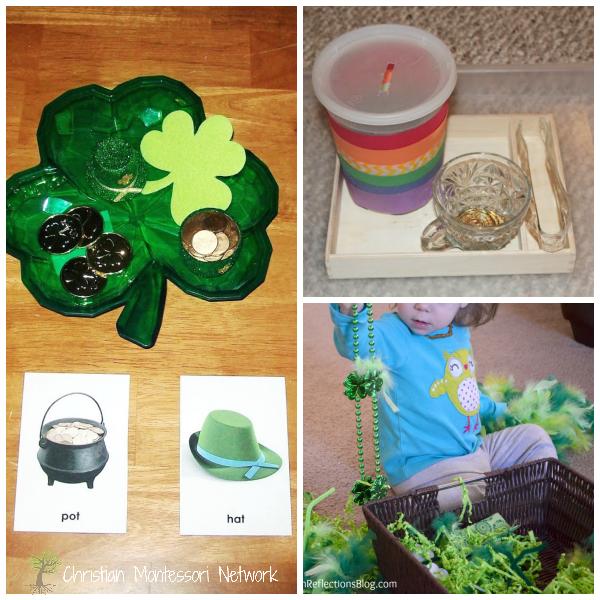 St. Patrick's day montessori toddler and preschool activities.