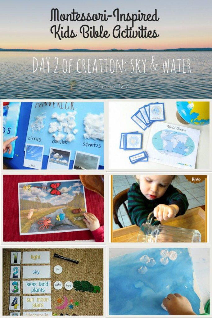 sky and water, exploring creation through hands-on learning. ChristianMontessoriNetwork.com