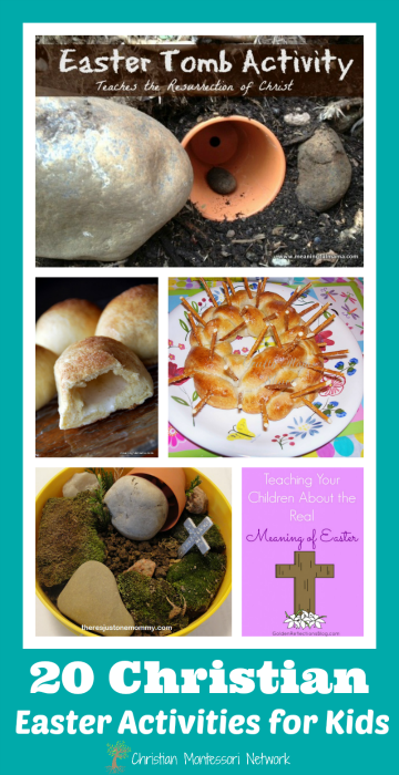 20 Christian Easter Activities for kids. www,ChristianMontessoriNetwork.com