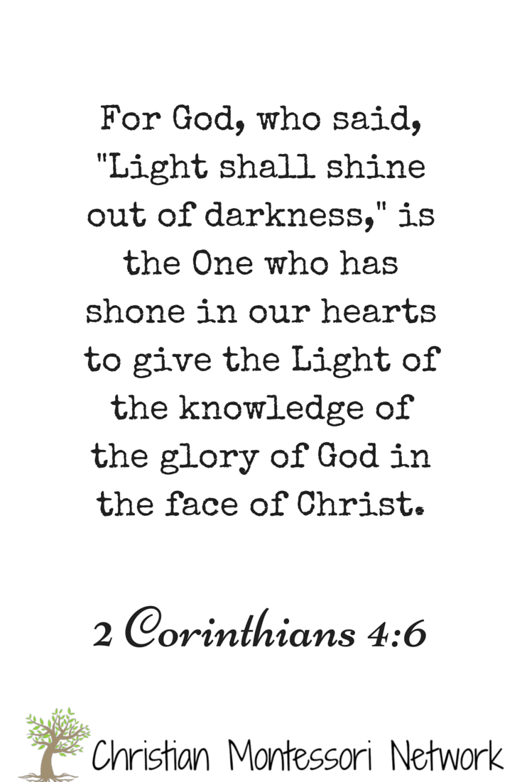 For God, who said, -Light shall shine