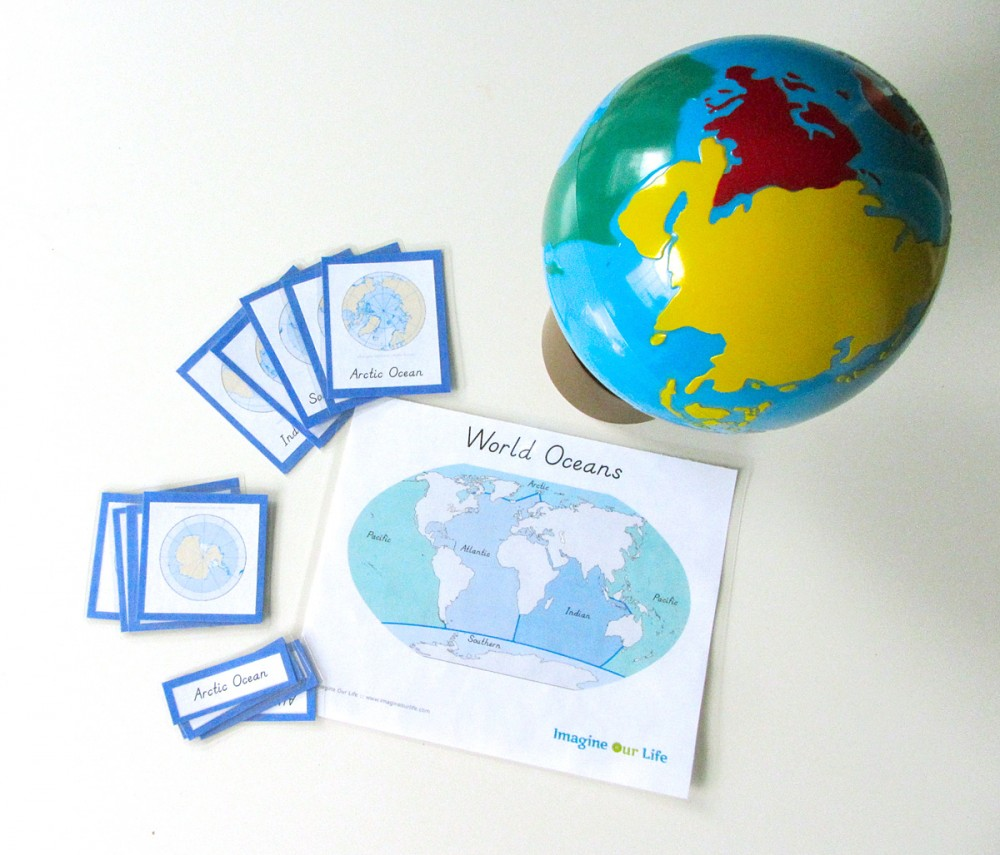 Montessori Inspired Kids Bible Activities - Oceans cards (imagine our life)