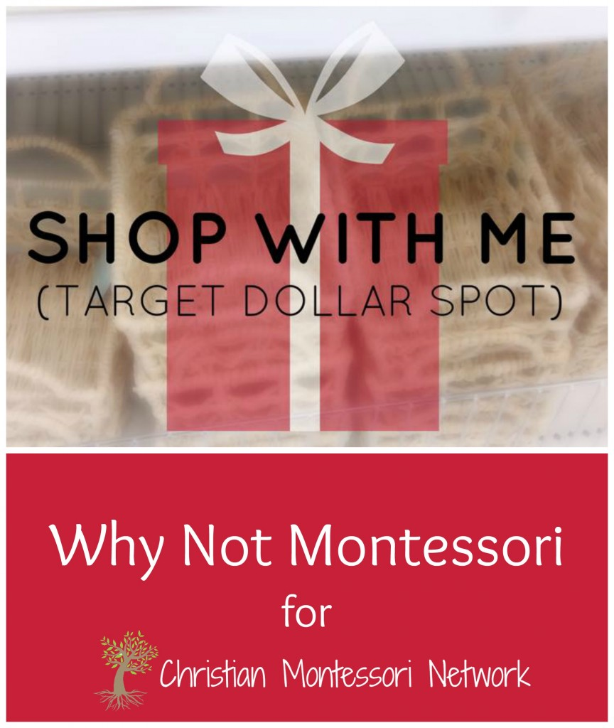 Shop with ME! Montessori Materials from Target Dollar Spot by Why Not Montessori on ChristianMontessoriNetwork.com