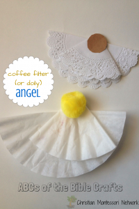 A is for Angel Craft: Bible School Craft Ideas