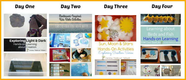 Four Days of Creation - ChristianMontessoriNetwork.com
