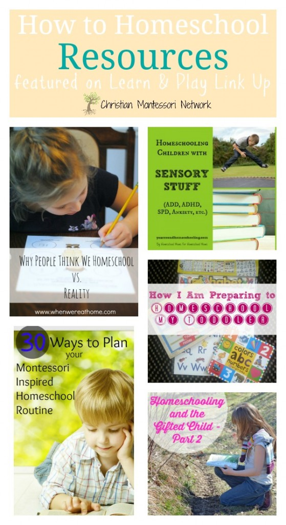 How To Homeschool Resources on ChristianMontessoriNetwork.com