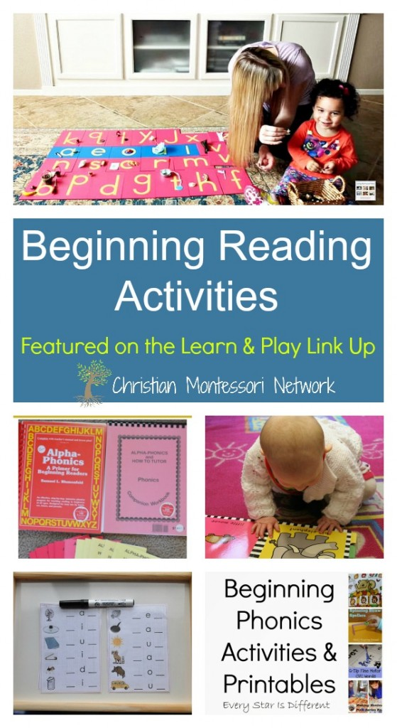 Beginning Reading Activities on ChristianMontessoriNetwork.com