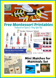 Free Montessori Inspired Printables {Learn & Play Link Up #12}