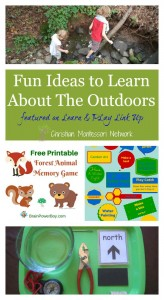 Fun Ideas to Learn About The Outdoors – Learn & Play Link Up #14