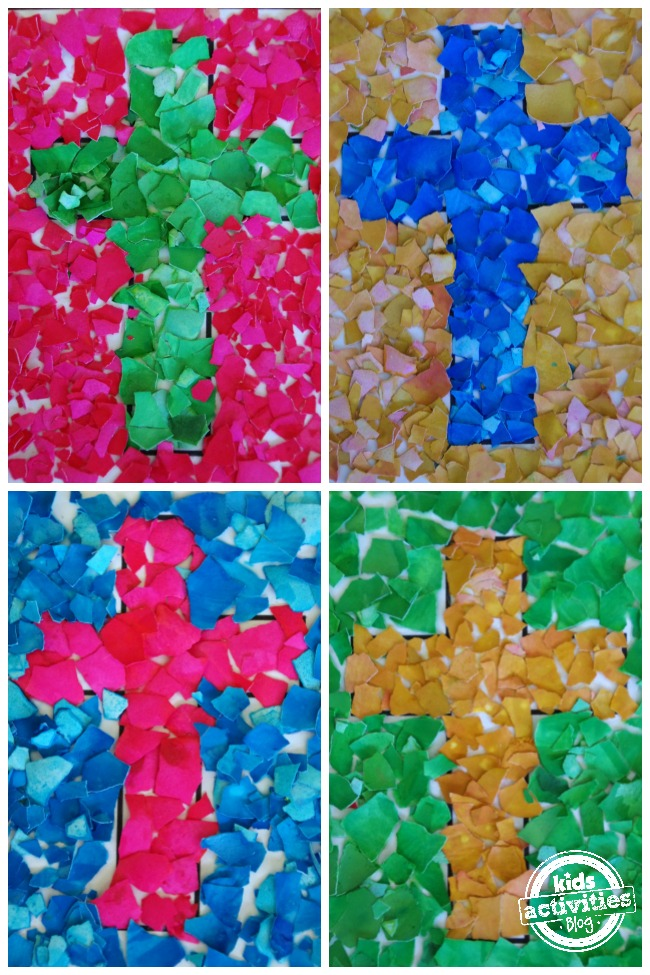 egg-shell-cross-mosaic-craft