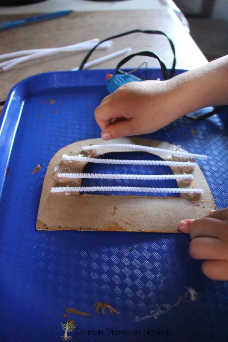 Trusting children with real tools is a great way to instill independence and responsibility - even just using a cool touch hot glue gun!