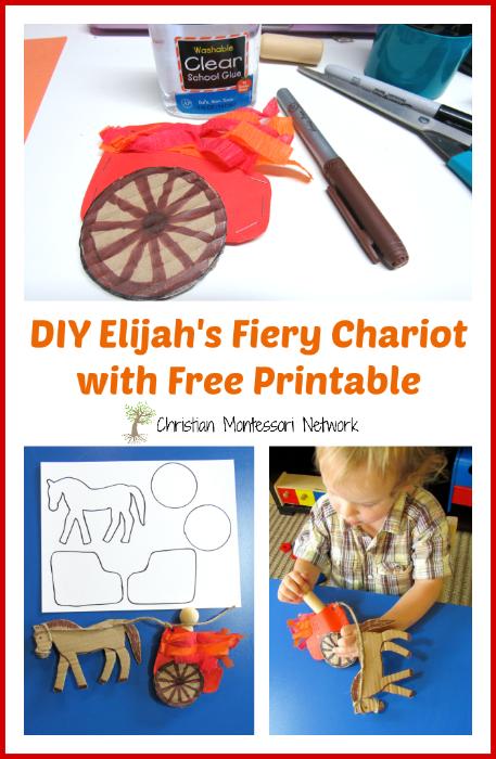 DIY Elijah's Fiery Chariot on ChristianMontessoriNetwork.com