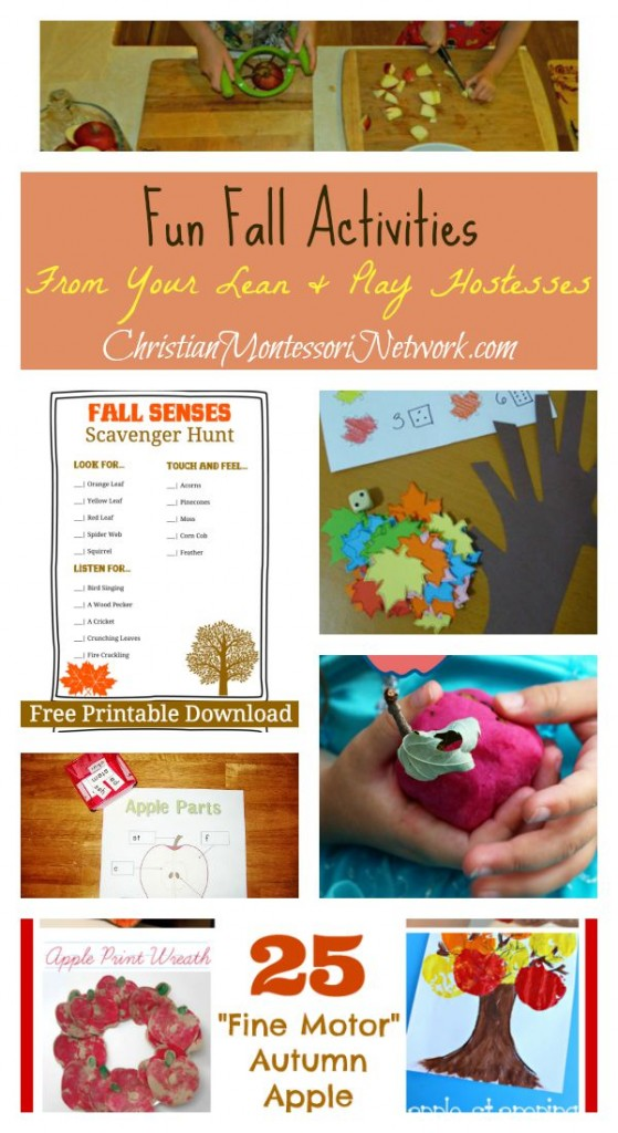 Fun Fall activities from your Learn & Play hostesses on ChristianMontessoriNetwork.com