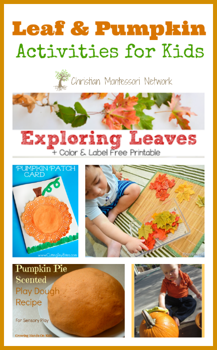 Leaf & Pumpkin Activities for Kids - ChristianMontessoriNetwork.com