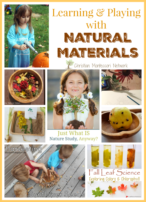 "A beautiful collection of activities for learning and playing with natural materials. Also, please join our ""Learn and Play"" Thursday link party! - ChristianMontessoriNetwork.com"