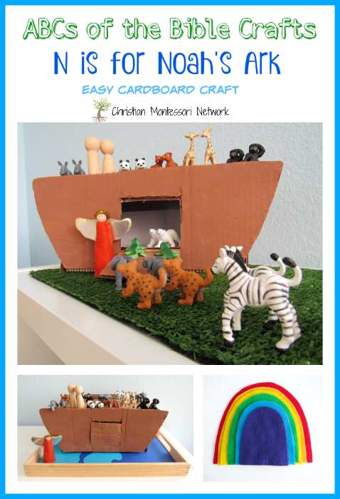 This is an easy DIY tutorial for N is for Noah's Ark shoebox craft. This is part of the ABCs for the Bible Crafts series. - ChristianMontessoriNetwork.com