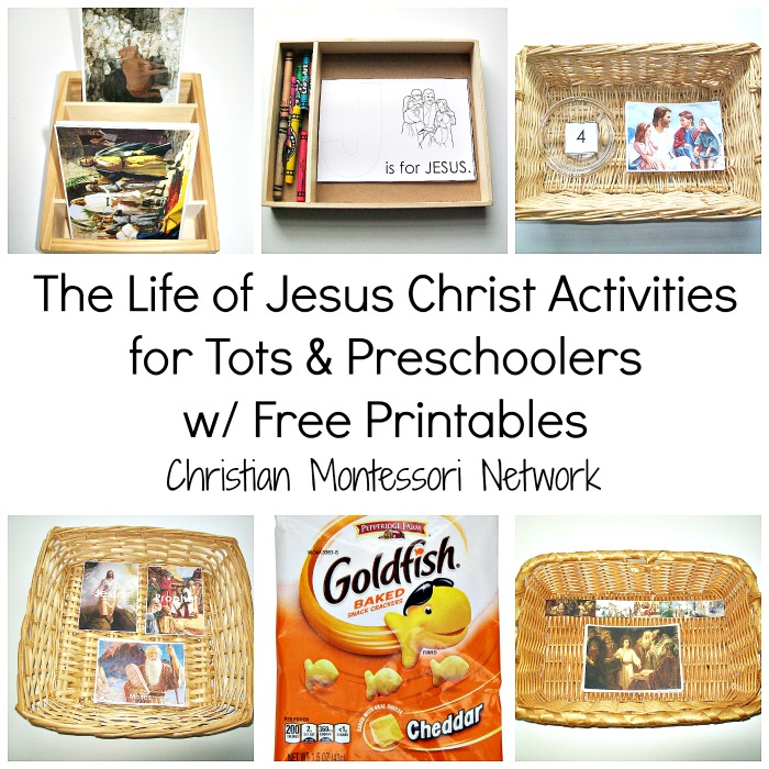 A beautiful collection of the life of Jesus Christ activities for tots and preschoolers to enjoy for church or quiet time. - ChristianMontessoriNetwork.com