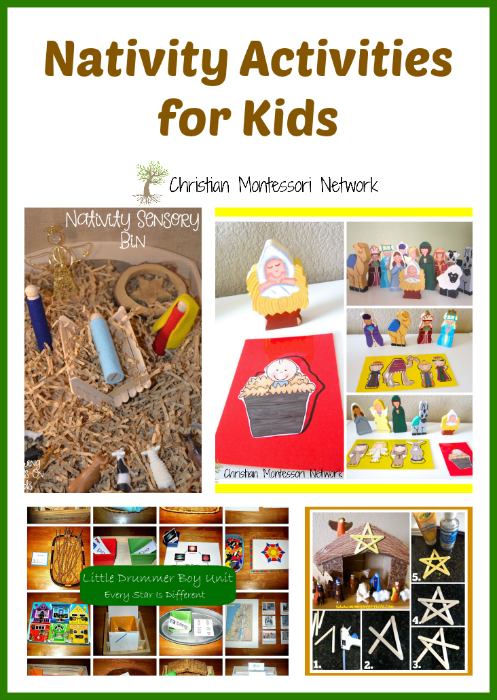"A collection of nativity activities for kids to learn about baby Jesus. Also, a ""Learn & Play"" Thursday link party! - ChristianMontessoriNetwork.com"
