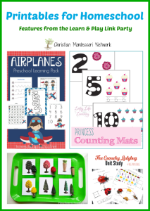 Printables for Homeschool {Learn & Play Link Up}