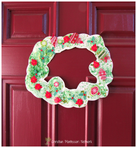Wreath on Door - ChristianMontessoriNetwork.com