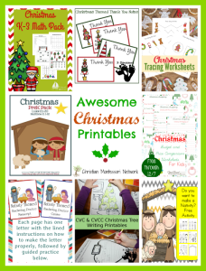 Awesome Christmas Printables {Learn & Play Link Up}