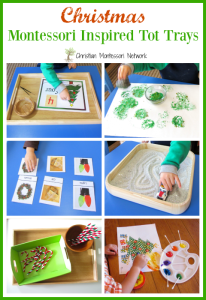 Christmas Montessori Tot Trays - ChristianMontessoriNetwork.com