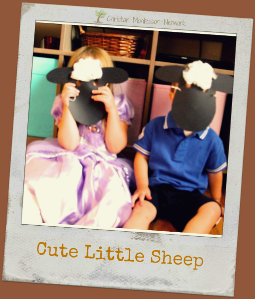 Sheep Craft - an easy Bible School Craft Idea that is versatile enough for a large group with different ages. This sheep mask is a great way to explain to children that the Lord is their Shepard. PS- aren't these some cute little sheep?!