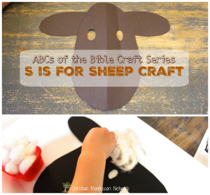 S is for Sheep Bible School Craft Idea