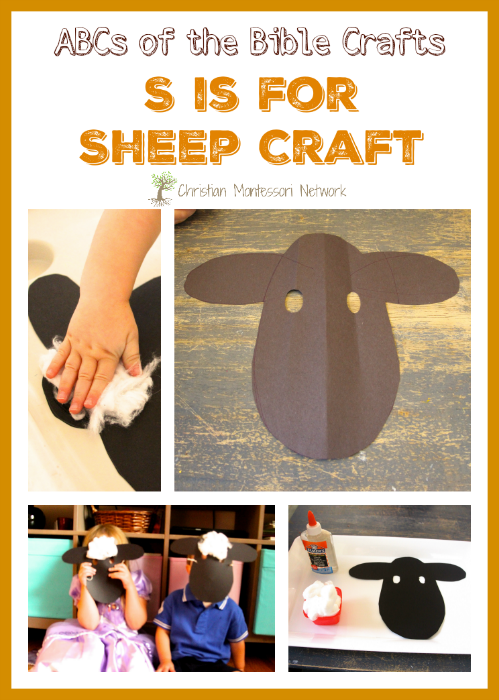 Sheep Craft - an easy Bible School Craft Idea that is versatile enough for a large group with different ages. This sheep mask is a great way to explain to children that the Lord is their Shepard