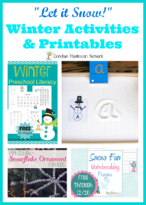 Winter Activities and Printables {Learn & Play Link Up}