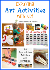 Exploring Art Activities with Kids {Learn & Play Link Up}