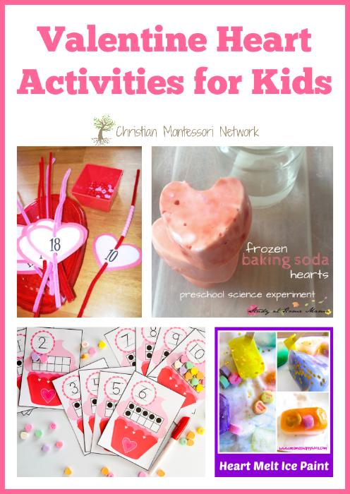 Valentine Heart Activities - ChristianMontessoriNetwork.com
